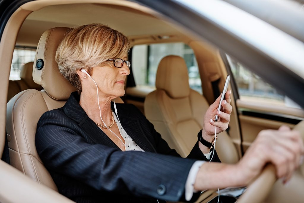 Drivers warned that using headphones is a risk of distraction